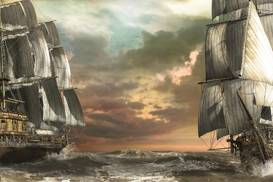 Sailboats-wallpaper-art-sea-waves-font-b-boats-b-font-ship-ships-fantasy-font-b-schooner
